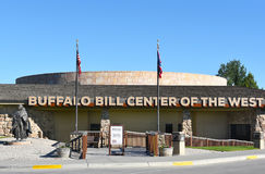Buffalo Bill Center of the West South Entrance. CODY, WYOMING - JUNE 24, 2017: Buffalo Bill Center of the West South Entrance. A complex of five museums and a Royalty Free Stock Photos