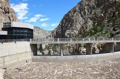 Buffalo Bill Dam debris buildup Royalty Free Stock Photo