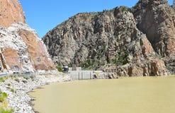 Buffalo Bill Dam e bacino idrico Fotografie Stock