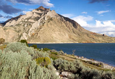 Buffalo Bill State Park with Lake and Mountains royalty free stock image