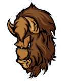 Buffalo Cartoon Vector Logo Royalty Free Stock Photo