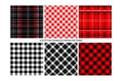 Buffalo Check Plaid Patterns royalty free illustration