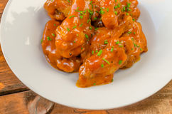 Buffalo chicken hot wings Stock Images
