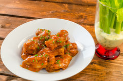 Buffalo chicken hot wings Royalty Free Stock Image