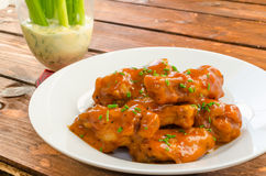 Buffalo chicken hot wings Royalty Free Stock Photo