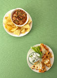 Buffalo chicken quesadillas Stock Images