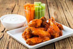 Buffalo chicken wing with cayenne pepper  sauce Royalty Free Stock Photo