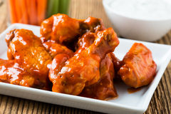 Buffalo chicken wing with cayenne pepper  sauce Royalty Free Stock Photos