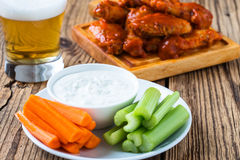 Buffalo chicken wing with cayenne pepper  sauce Stock Image