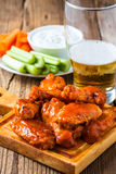 Buffalo chicken wing with cayenne pepper  sauce Royalty Free Stock Images
