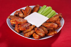 Buffalo chicken wings Royalty Free Stock Image