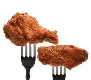 Buffalo Chicken Wings. On The Forks stock photo