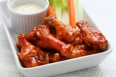 Buffalo chicken wings. American food royalty free stock images