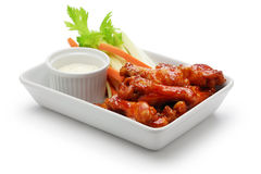 Buffalo chicken wings, american food Royalty Free Stock Photo