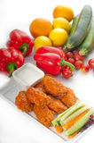 Buffalo chicken wings served with pinzimonio Royalty Free Stock Photo