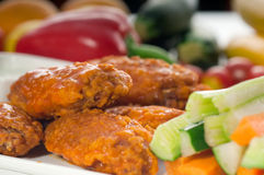 Buffalo chicken wings served with pinzimonio Royalty Free Stock Photography