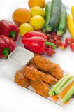 Buffalo chicken wings served with pinzimonio Royalty Free Stock Images