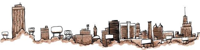 Buffalo City Skyline Stock Photography