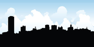 Buffalo City Skyline Royalty Free Stock Images