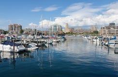 Buffalo Harbor. City harbor front, Erie Basin Marina, Buffalo, NY Royalty Free Stock Photo