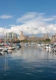 Buffalo Harbor. City harbor front, Erie Basin Marina, Buffalo, NY Royalty Free Stock Photography