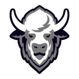 Buffalo Head Logo Mascot Stock Photo