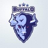 Buffalo Head Logo Mascot Royalty Free Stock Photos
