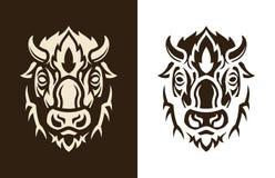 Buffalo head sihouette stock illustration