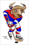 Buffalo - the hockey player Stock Images