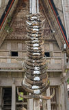 Buffalo horns at Tongkonan traditional houses in Tana Toraja Stock Photos