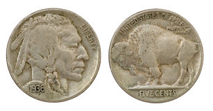 Buffalo Indian Head Nickel Stock Photography