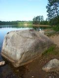 Buffalo Lake - northwoods Wisconsin. The big rock at Buffalo Lake in the northwoods of Wisconsin stock images