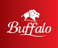 Buffalo Logo Design Images libres de droits