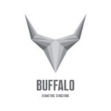Buffalo Logo Sign - Abstract Geometric Structure Royalty Free Stock Images