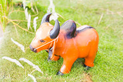 Buffalo made ​​of plaster Stock Image