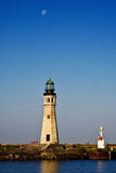Buffalo Main Lighthouse on Lake Erie Stock Image