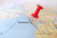 Buffalo map royalty free stock images