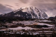 Buffalo Mountain - Silverthorne, Colorado. Just before sunrise on a early winter morning royalty free stock photos
