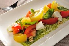 Buffalo Mozzarella Basil salad Stock Photo