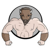 Buffalo muscle icon Stock Photography