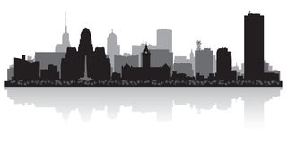 Buffalo New York city skyline silhouette. Buffalo New York USA city skyline silhouette Background vector illustration Stock Images