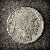 1937 Buffalo nickel Stock Images