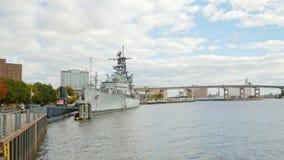 Buffalo, NY, USA - OKTOBER 20, 2016: Buffalo and Erie country Naval and Military Park stock footage