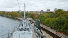 Buffalo, NY, USA - OKTOBER 20, 2016: Uss Little Rock and Croaker submarine. Buffalo and Erie country Naval and Military. Buffalo, NY, USA - OKTOBER 20, 2016 stock video footage