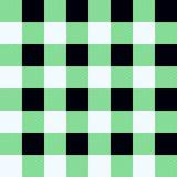 Buffalo Plaid Seamless Pattern Design. green, black and white tartan royalty free illustration