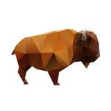 Buffalo poligonale Fotografie Stock Libere da Diritti