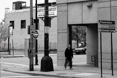 Buffalo road with homeless in Buffalo NY royalty free stock photography