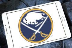 Buffalo Sabres zamraża drużyna hokejowa loga Obraz Royalty Free