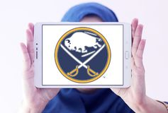 Buffalo Sabres zamraża drużyna hokejowa loga Obraz Stock