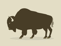 Buffalo silhouette Royalty Free Stock Image